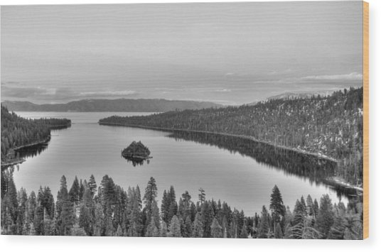 Emerald Bay Lake Tahoe Wood Print by Brad Scott
