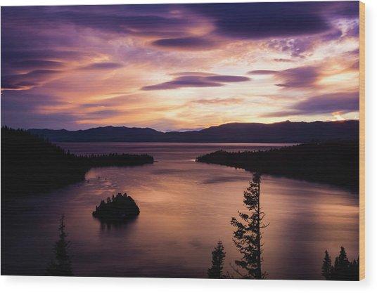 Emerald Bay Sunrise - Lake Tahoe, California Wood Print