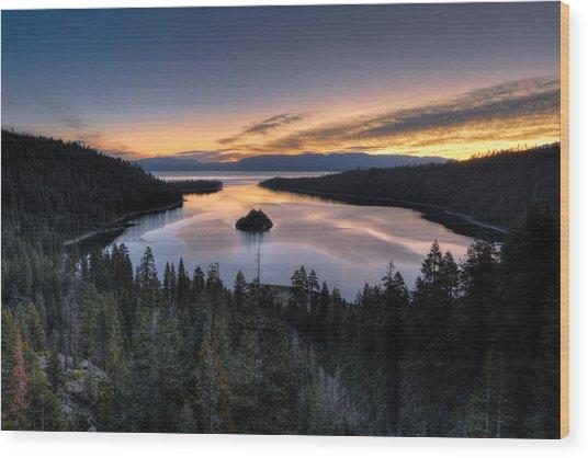 Emerald Bay Sunrise Wood Print
