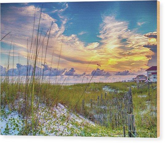 Emerald Coast Sunset Wood Print