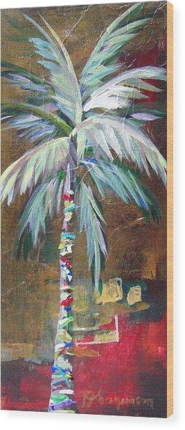 Emerald Fire Palm  Wood Print