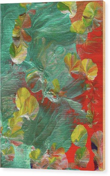 Emerald Island Wood Print