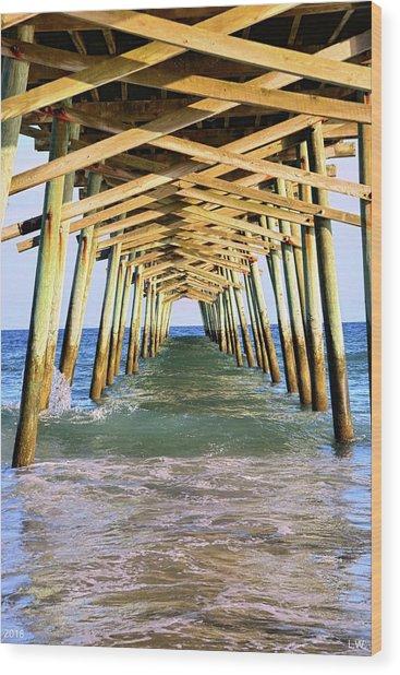 Emerald Isles Pier Wood Print