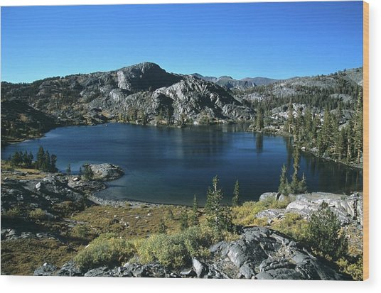 Emerald Lake From Jmt  Wood Print
