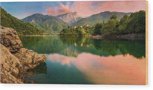 Emerald Mirror Wood Print