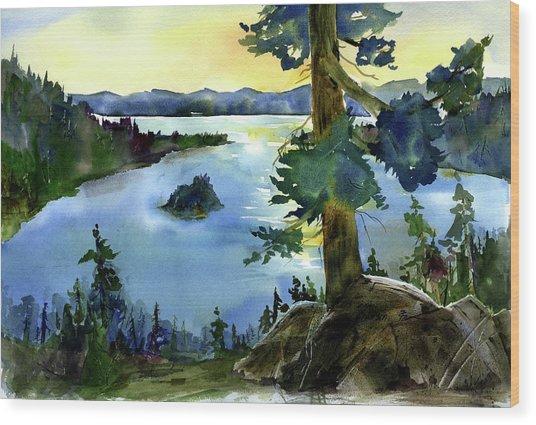 Emerald Morn, Lake Tahoe Wood Print