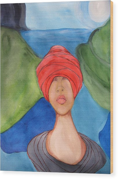 Emergence Wood Print by Lindie Racz