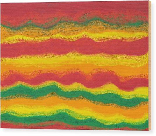 Emergence No. 1 Wood Print by Elizabeth Dawson
