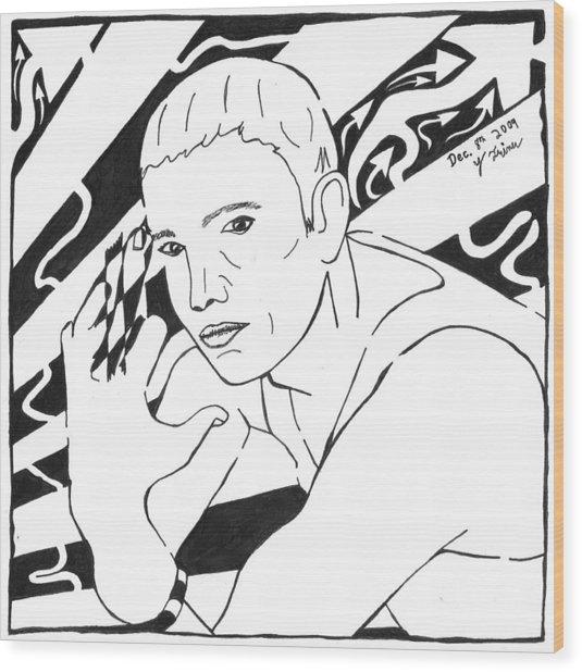 Eminemaze Wood Print by Yonatan Frimer Maze Artist