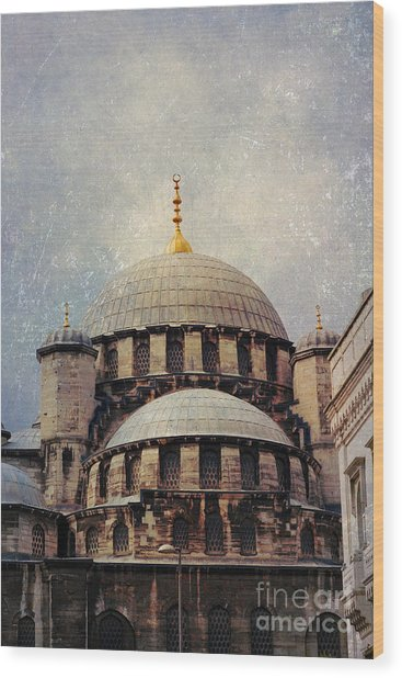 Eminonu New Mosque Wood Print
