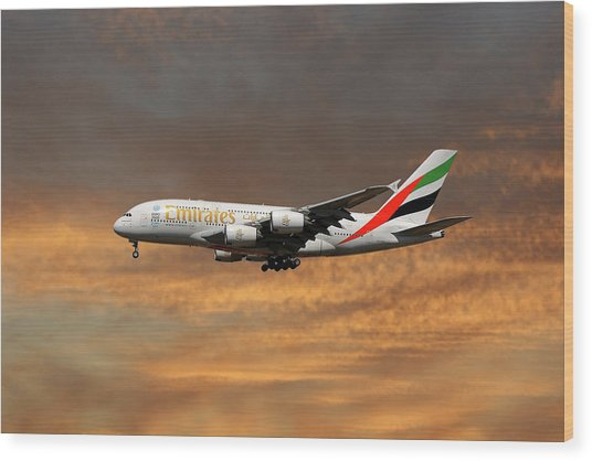 Emirates Airbus A380-861 3 Wood Print
