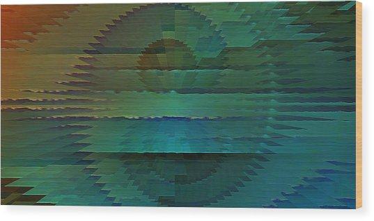 Radio Emission Wood Print