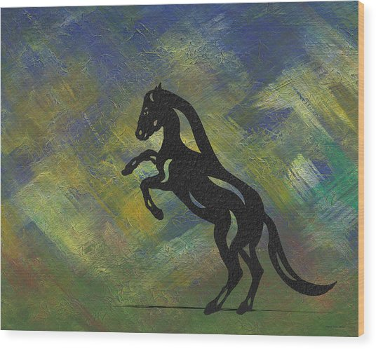 Emma - Abstract Horse Wood Print