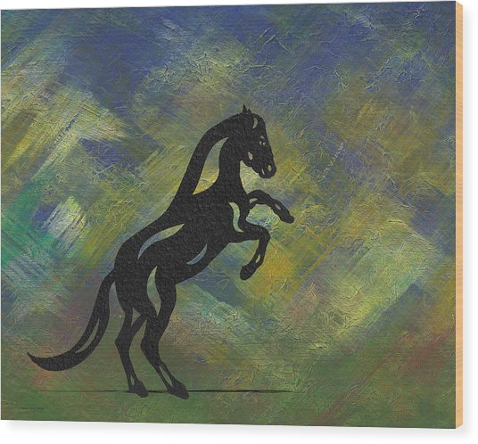 Emma II - Abstract Horse Wood Print