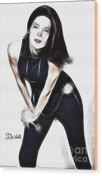 Emma Peel #1 Wood Print