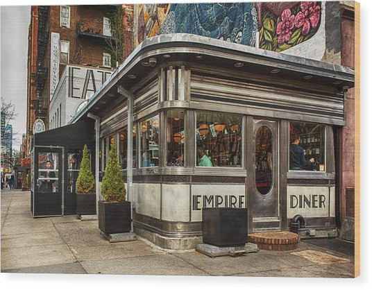 Empire Diner Wood Print