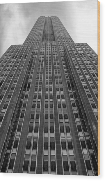 Empire State Building Wood Print by Mandy Wiltse