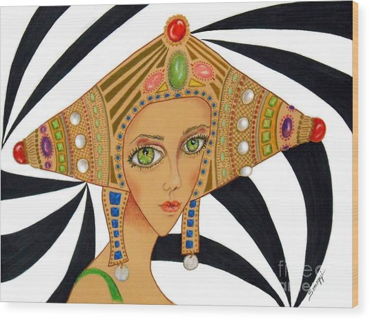 Empress Exotica -- Whimsical Exotic Woman Wood Print
