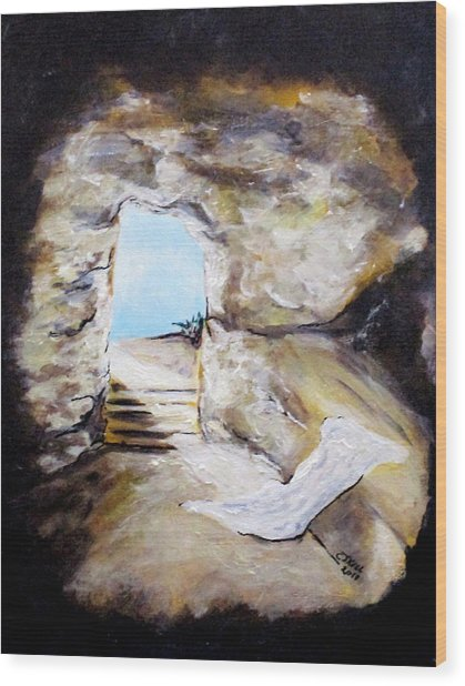 Empty Burial Tomb Wood Print
