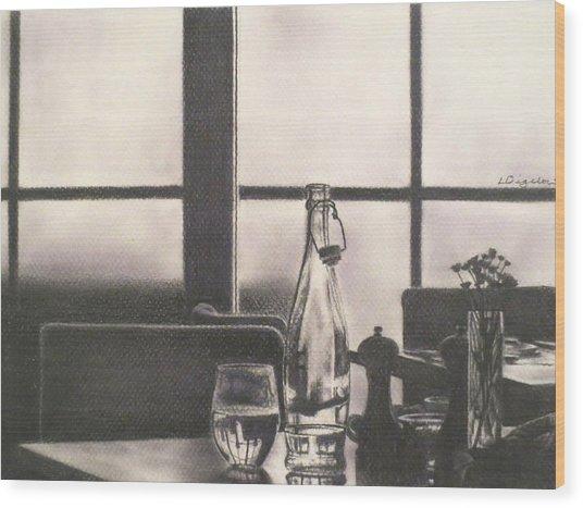Empty Glass Wood Print