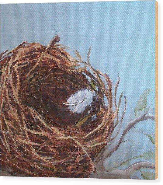 Empty Nest Wood Print by Irene Corey