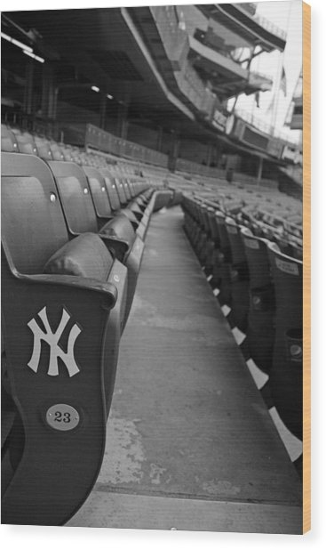Empty Stadium Wood Print