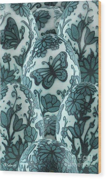 Emu Butterfly Garden Wood Print