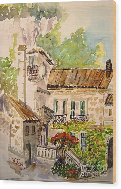 En Plein Air At Moulin De La Roque France Wood Print