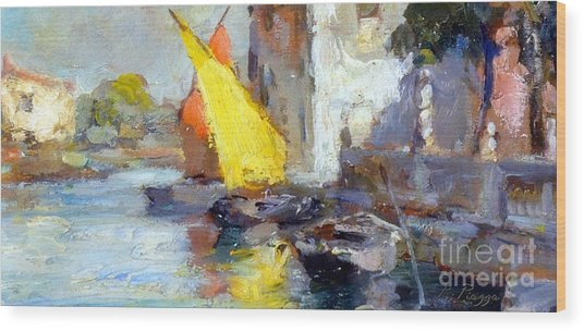 En Plein Air In Venice Wood Print