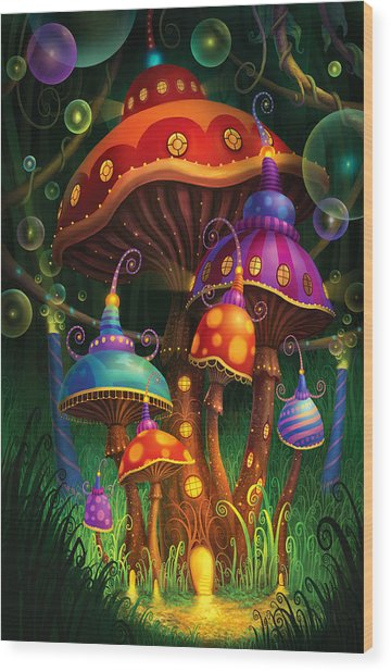Enchanted Evening Wood Print by Philip Straub