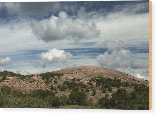 Enchanted Rock Rocks Wood Print