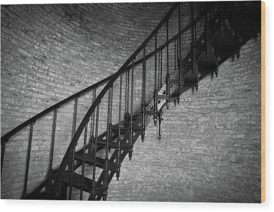 Enchanted Staircase II - Currituck Lighthouse Wood Print