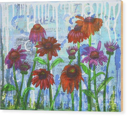 Enchanting Echinacea Wood Print