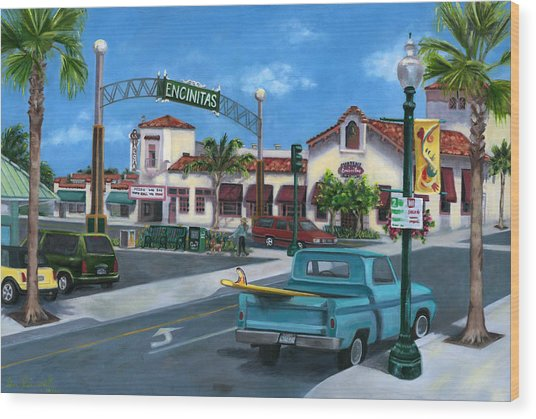 Encinitas Dreaming Wood Print by Lisa Reinhardt