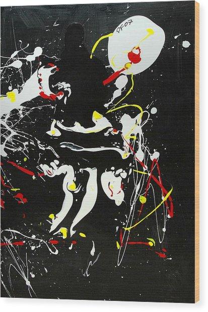 Encounter Wood Print by Paul Freidin