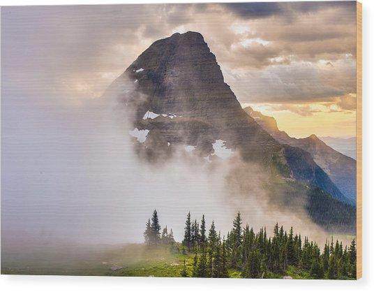 Encroaching Fog Wood Print