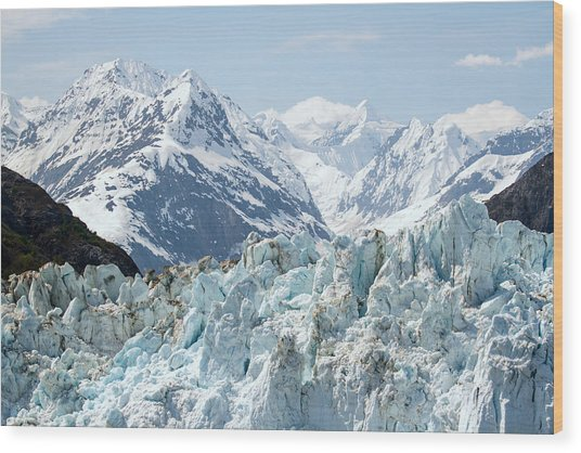 Glaciers End Of A Journey Wood Print