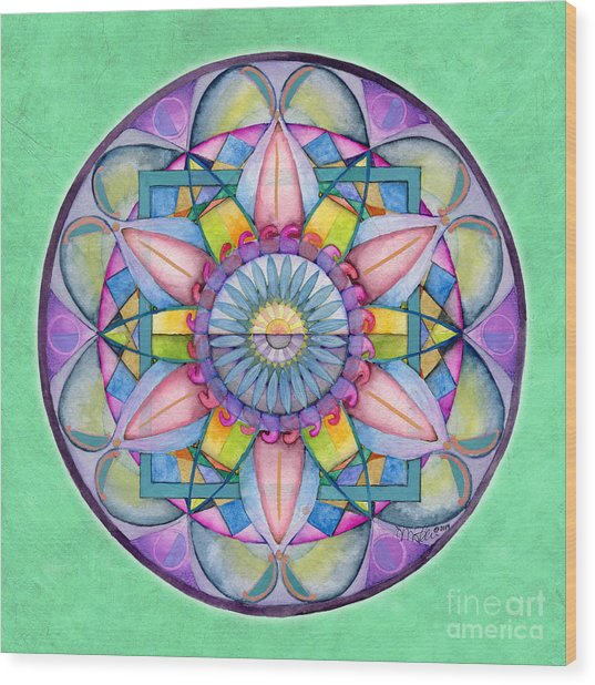 End Of Sorrow Mandala Wood Print