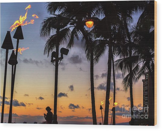 End Of The Beutiful Day.hawaii Wood Print