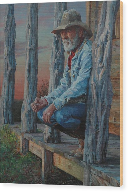 End Of The Day Wood Print by Jim Clements