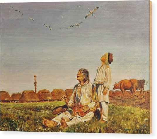 End Of The Summer- The Storks Wood Print