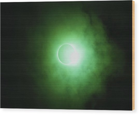 End Of Totality Wood Print