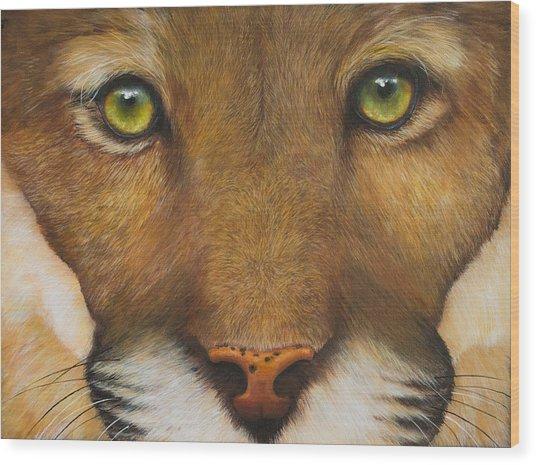Endangered Eyes Wood Print