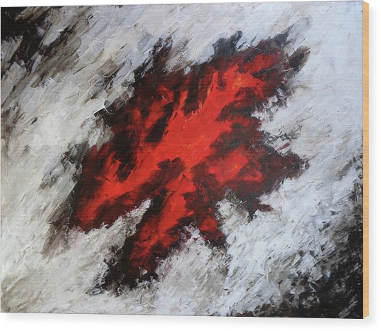 Endeavor Abstract Expressionism Wood Print