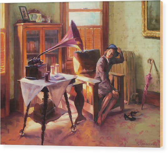 Wood Print featuring the painting Ending The Day On A Good Note by Steve Henderson