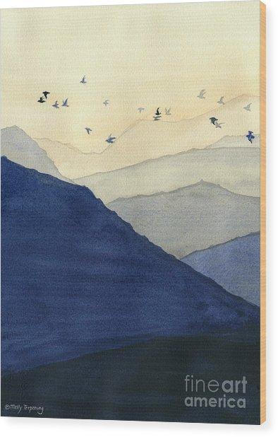 Endless Mountains Left Panel Wood Print