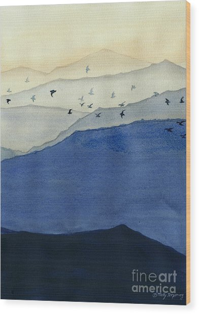 Endless Mountains Right Panel Wood Print