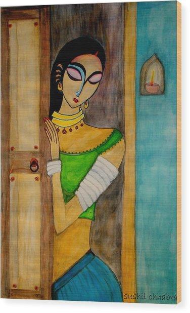 Endless Wait Wood Print by sushil  Chhabra