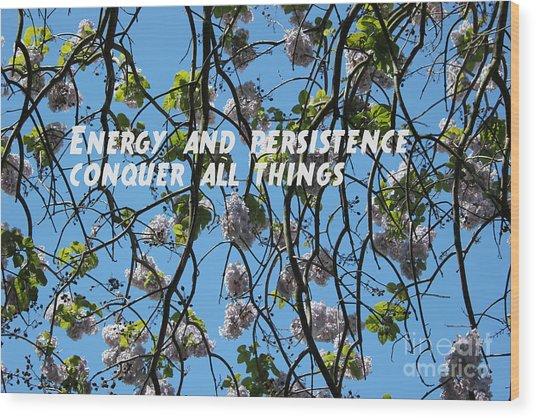 Wood Print featuring the mixed media Energy And Persistence by Wilko Van de Kamp