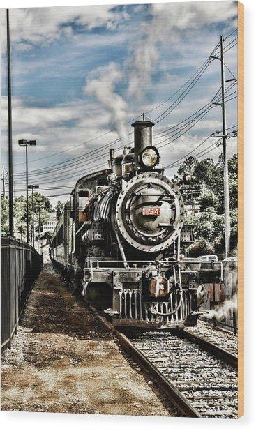 Engine 154 Wood Print